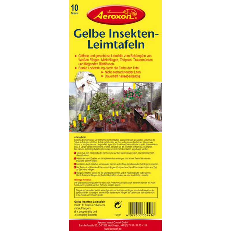 Insekten leimtafeln aeroxon gelb 5 90 vitalpilze for Gelb karten gegen fliegen