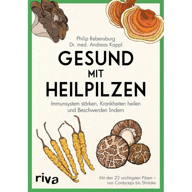 Set Vital-mushrooms and Book Apotheke der Heilpilze