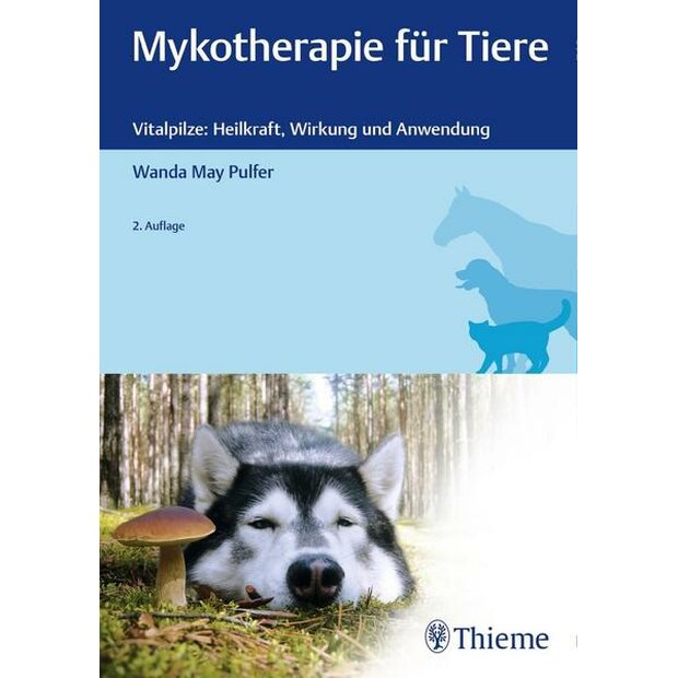 Set Vital Mushrooms and book Mykotherapie für Tiere
